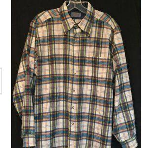 Vintage Pendleton Rainbow Plaid Shirt Overshirt